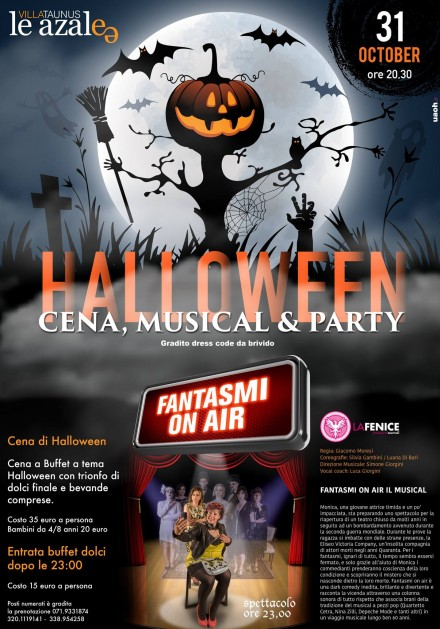 Fantasmi On Air ad Halloween –  Azalee Villa Taunus Numana